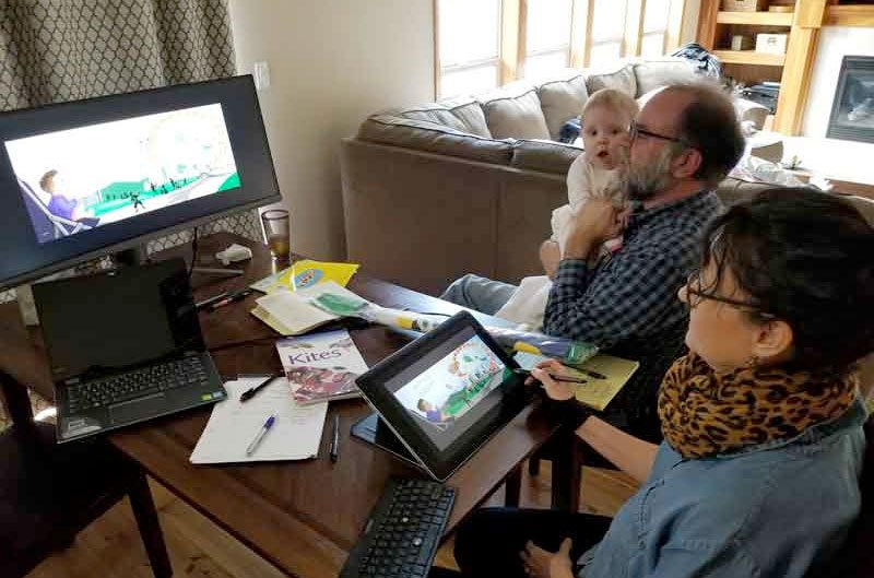 Jim Mockford at planning meeting for Kumquat Kids