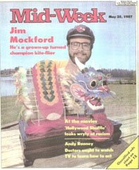 Jim Mockford on the cover of the Mid-Week magazine in 1987