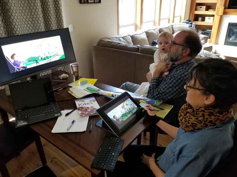 Planning and design meeting for Kumquat Kites
