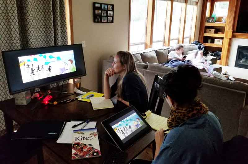 Kumquat Kites planning and design meeting