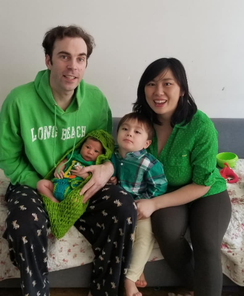 The Mockford family in Dalian, China March 2020
